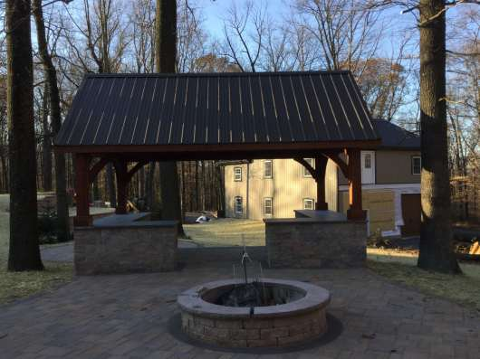 outdoor fireplace area Lancaster County, PA