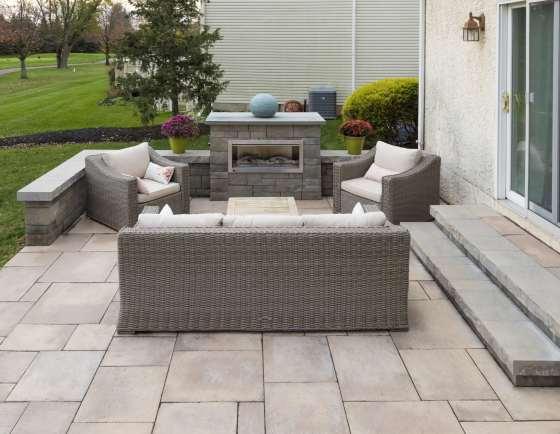 backyard patio installation
