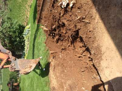 landscape excavation project in Lebanon County, PA