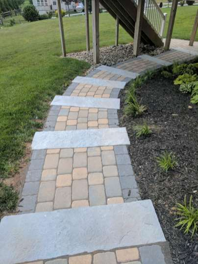 stone and brick outdoor steps in Chester County, PA