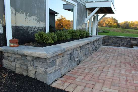 stone block wall in Lancaster County, PA