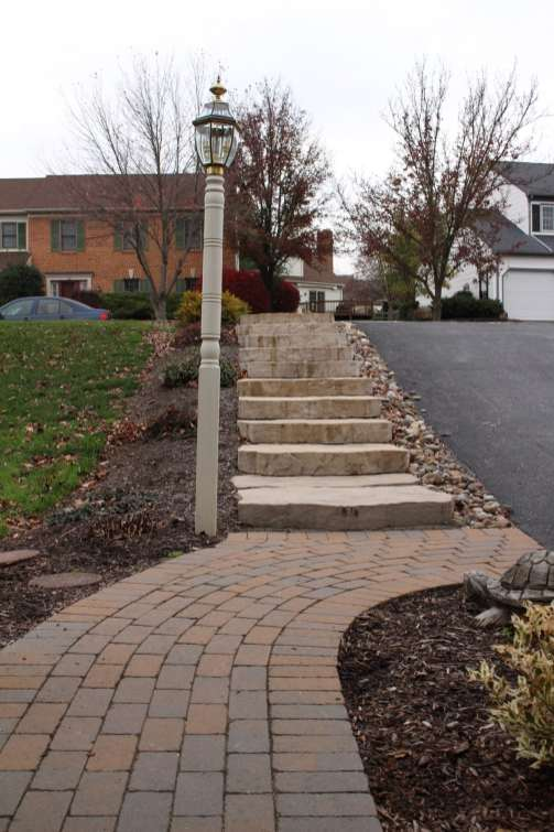 natural stone steps and walkway in Berks County PA