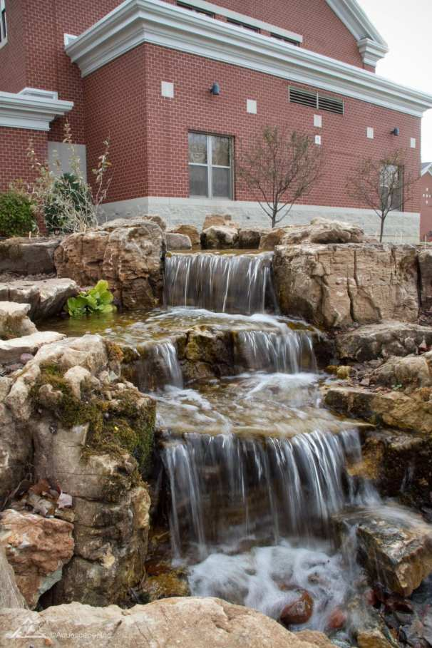 outdoor waterfall in lebanon, pa