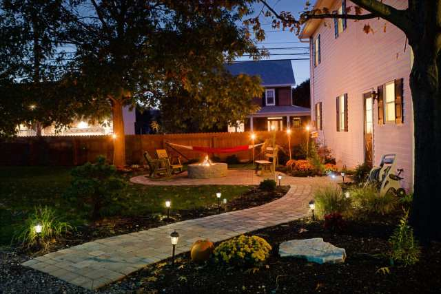 outdoor landscape lighting in Lancaster, PA