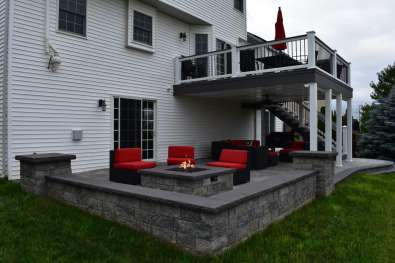 natural gas firepit in Mechanicsburg, Pa