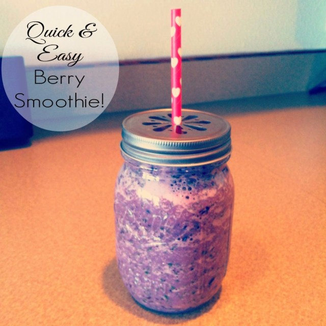 Spinach and berry smoothie recipe