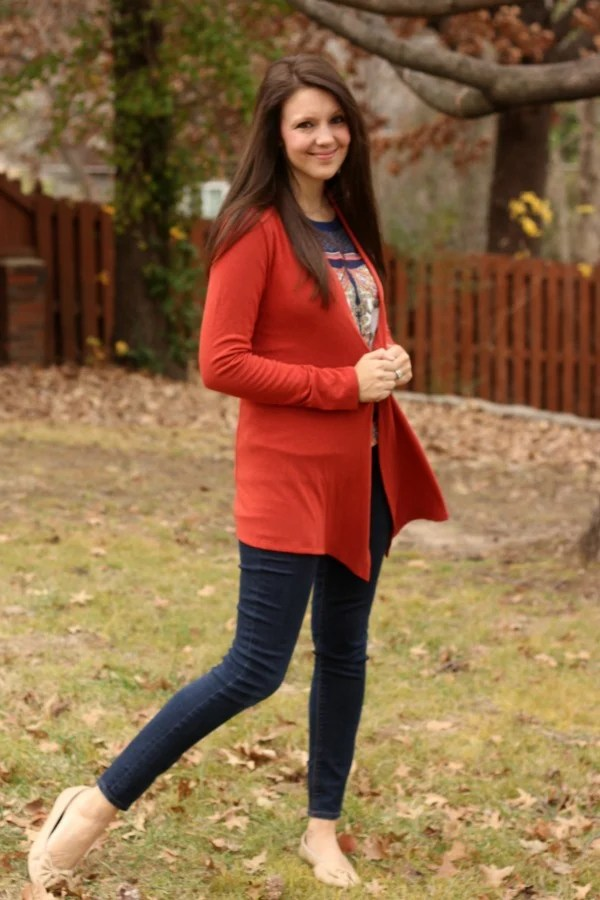 41Hawthorn Abrianna Long sleeve Knit Cardigan - Stitch Fix Review #10 by Missouri style blogger A + Life