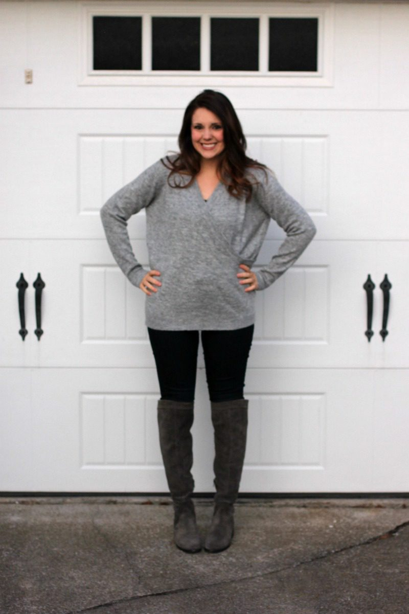 Stitch Fix Review, Stitch Fix Sweater, Gray Stitch Fix Sweater, Sophie Rue Sweater, Nursing Friendly Sweater, #stitchfix