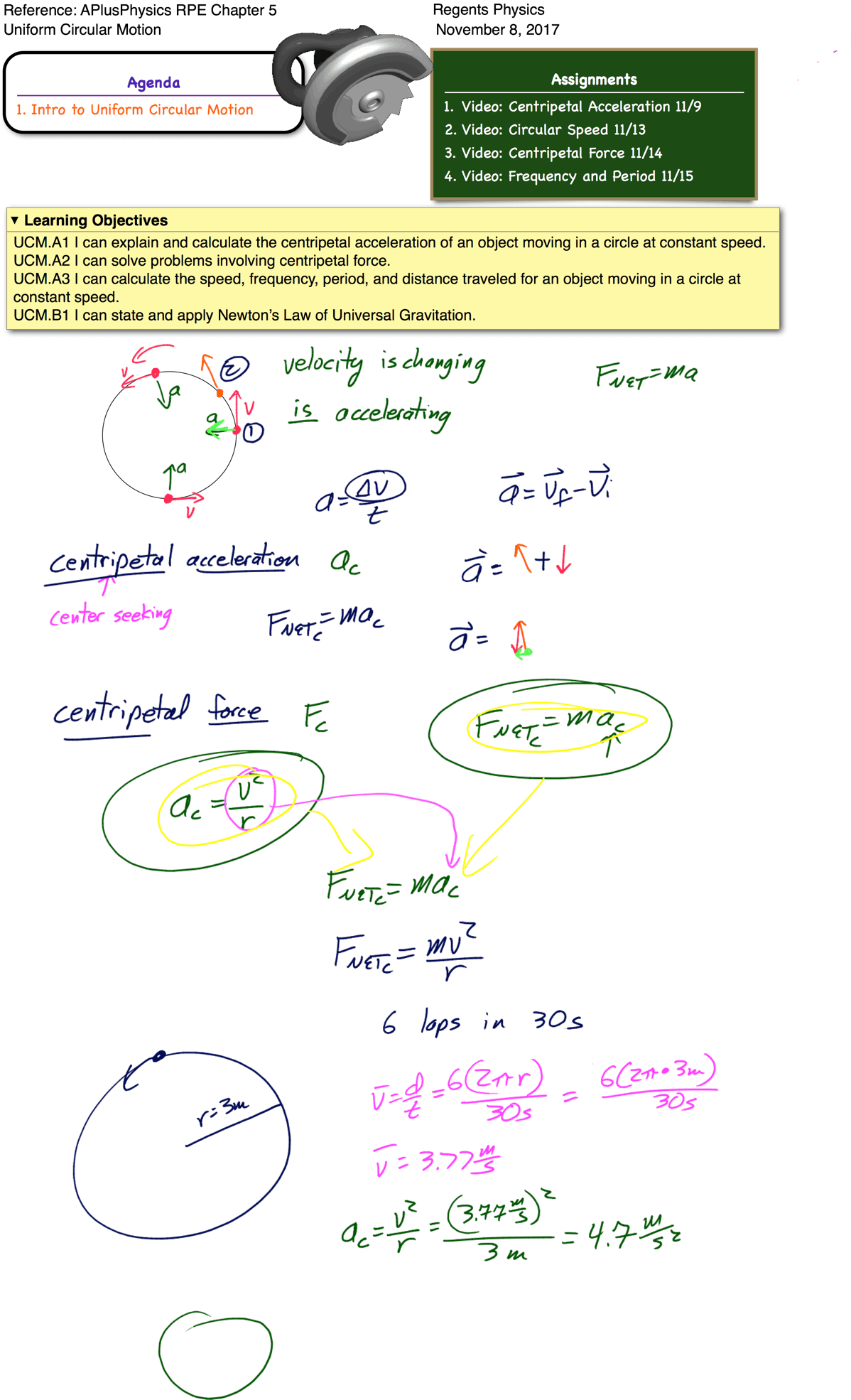 Centripetal Acceleration Archives