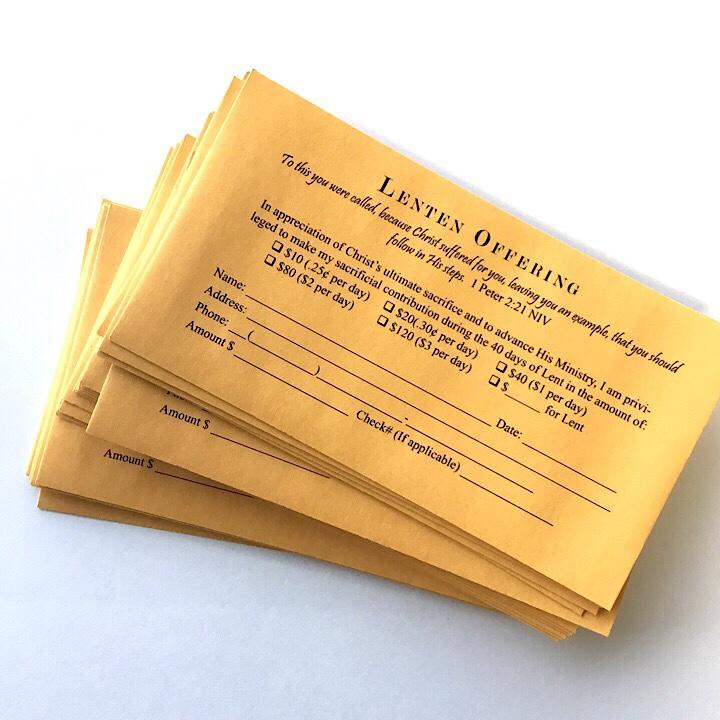 Church envelopes – A Plus Print Shop