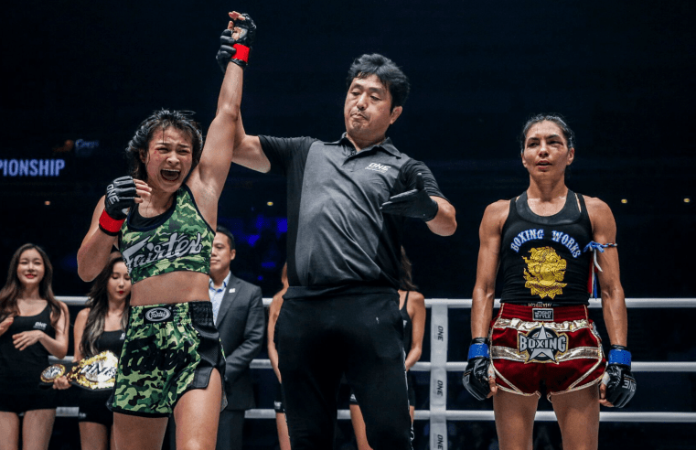 Stamp Fairtex Beats Janet Todd To Win ONE Atomweight Muay Thai Title