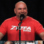 Dana White wearing a Zuffa Boxing tee shirt