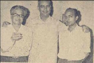 The Making of Baharein Phir Bhi Aayengi .....The Team --- Anjaan Sahab (Lyricist, ), OP Nayyar (MD), Shahid Lateef (Director) and Guru Dutt (Producer)....