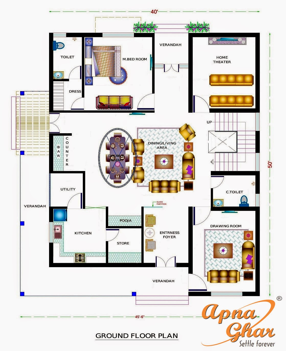 ApnaGhar House Design Complete Architectural Solution