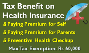 Tax Benefit on Health Insurance - Sec 80D