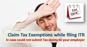 How to Claim Tax Exemption while filing Income Tax Return?