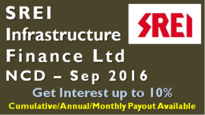 SREI Infrastructure Finance NCD – Sep 2016