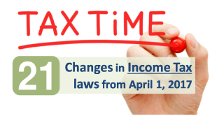 Changes in Income Tax laws from April 2017