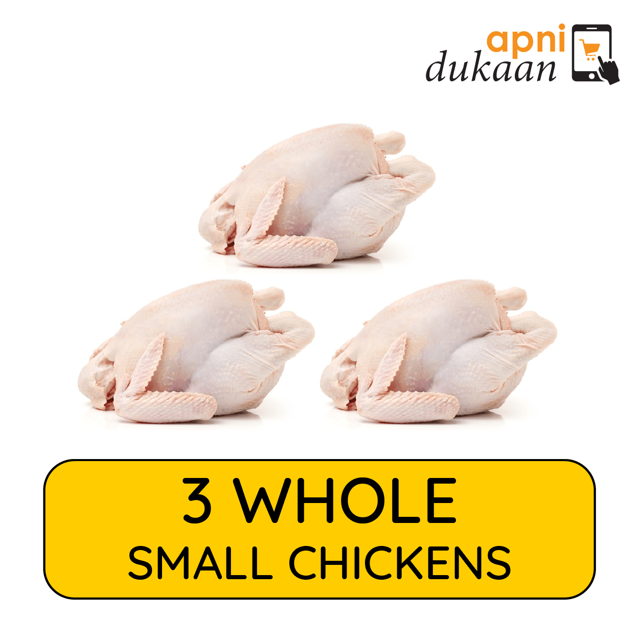 3 Whole Chickens Small – Special