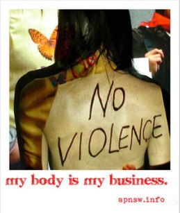 my body is my business - no violence