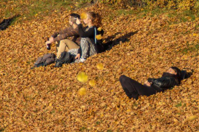 Relaxen in der Herbstsonne, Leipzig