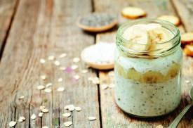 Rezepte: zimtiger Bananen-Chia Pudding