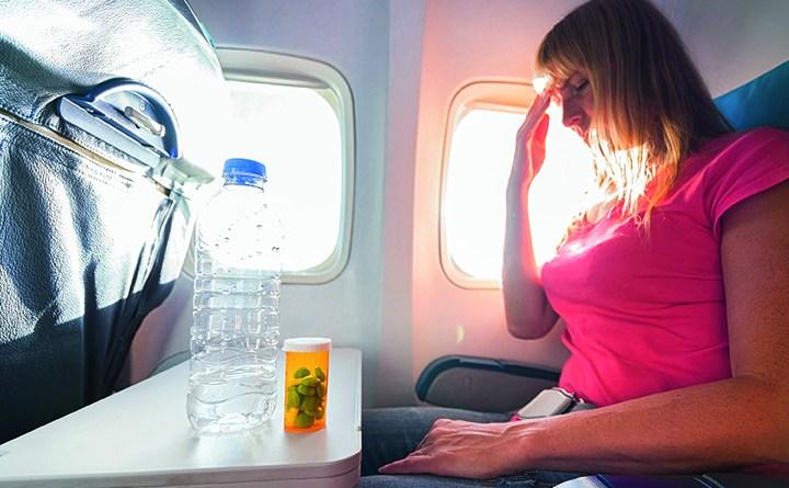 Trockene Luft im Flieger - Viren