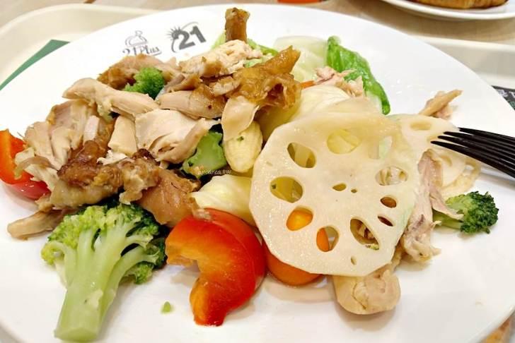 120332 - 21風味館|好吃烤雞搭配脆甜鮮蔬,鮮蔬手撕雞餐營養又美味,台中大遠百和新時代都有
