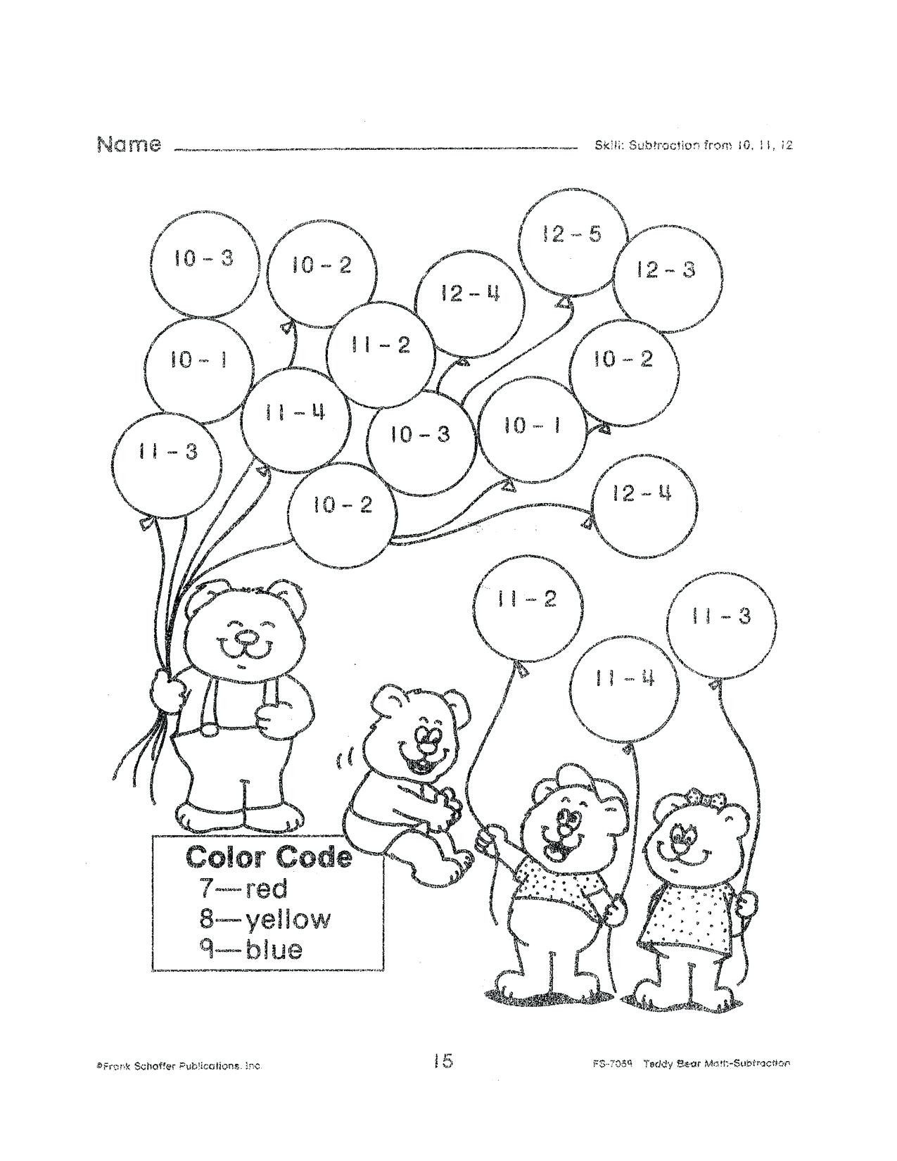 3 Free Math Worksheets First Grade 1 Addition Add 3 Single