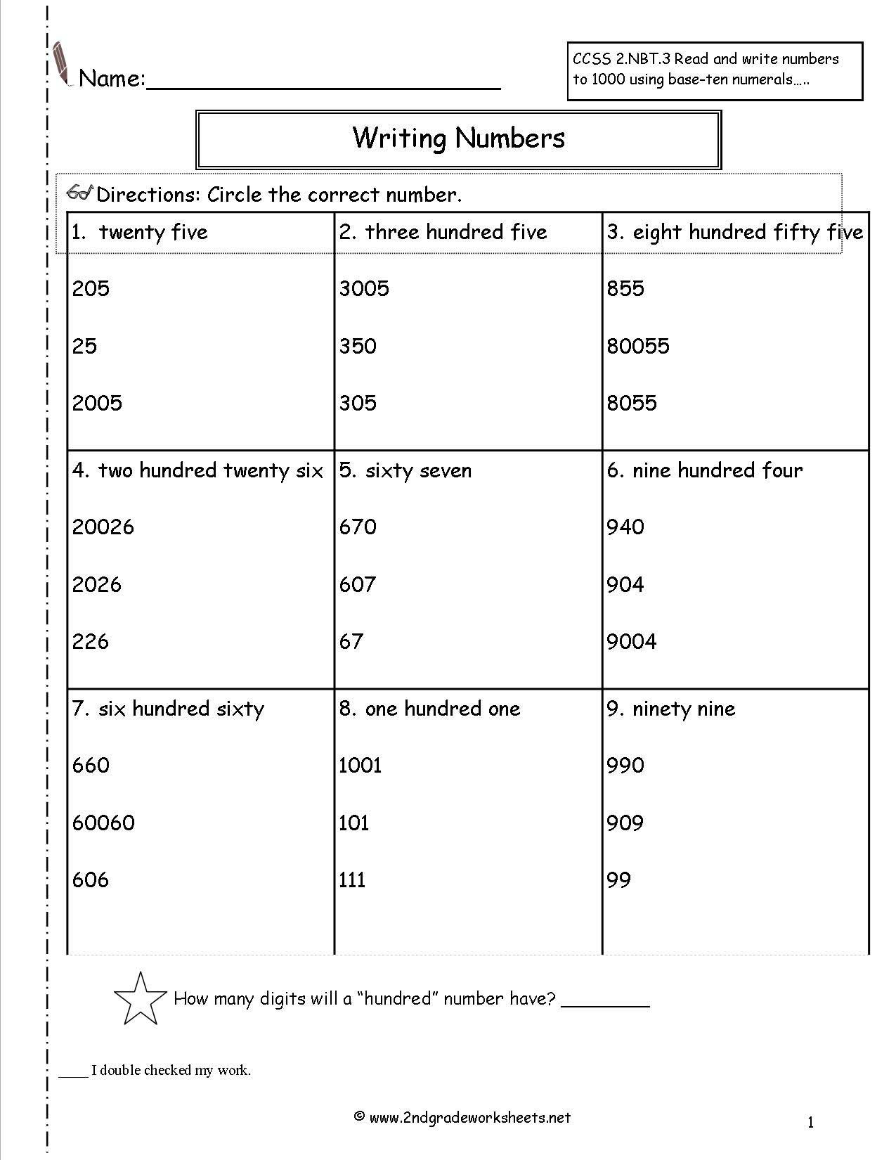 3 Free Math Worksheets First Grade 1 Place Value Adding