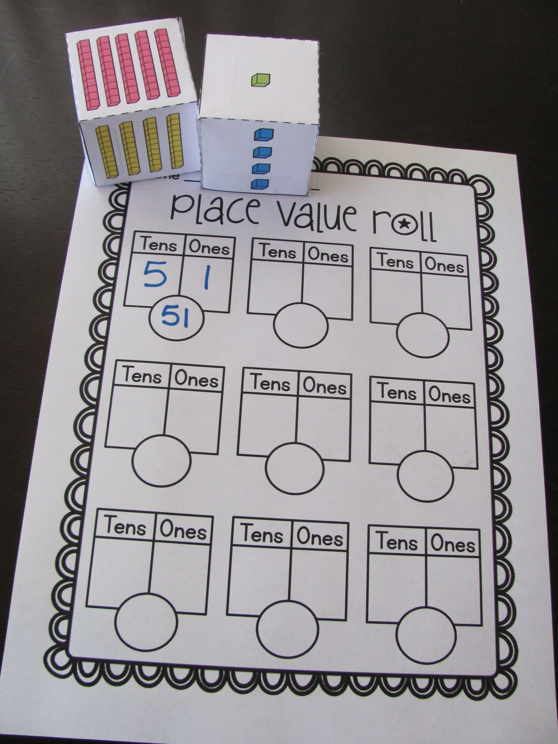 4 Free Math Worksheets First Grade 1 Place Value Rounding