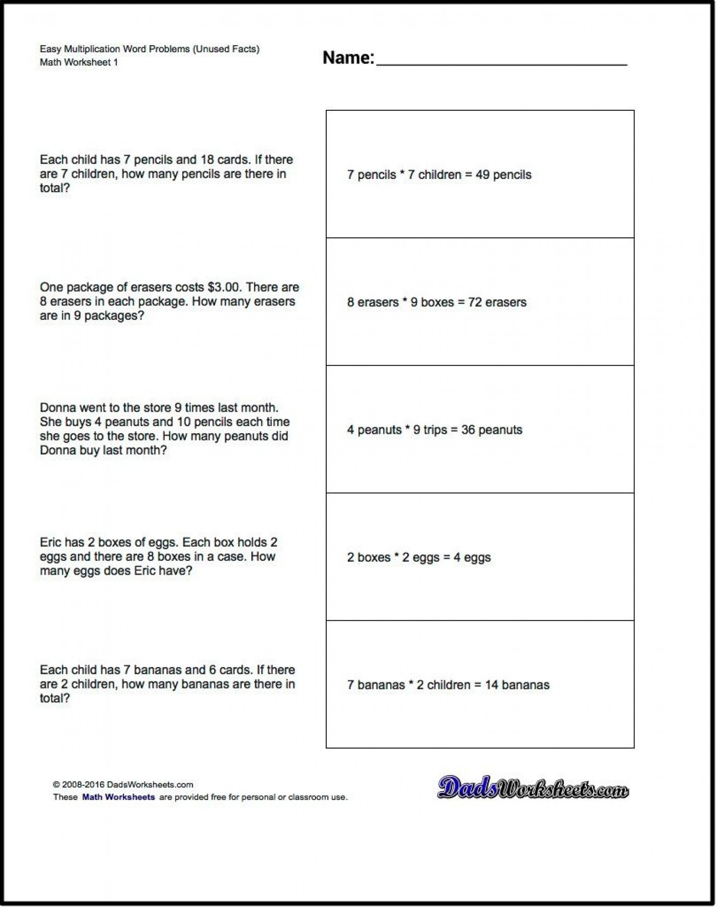4 Free Math Worksheets Second Grade 2 Addition Add In