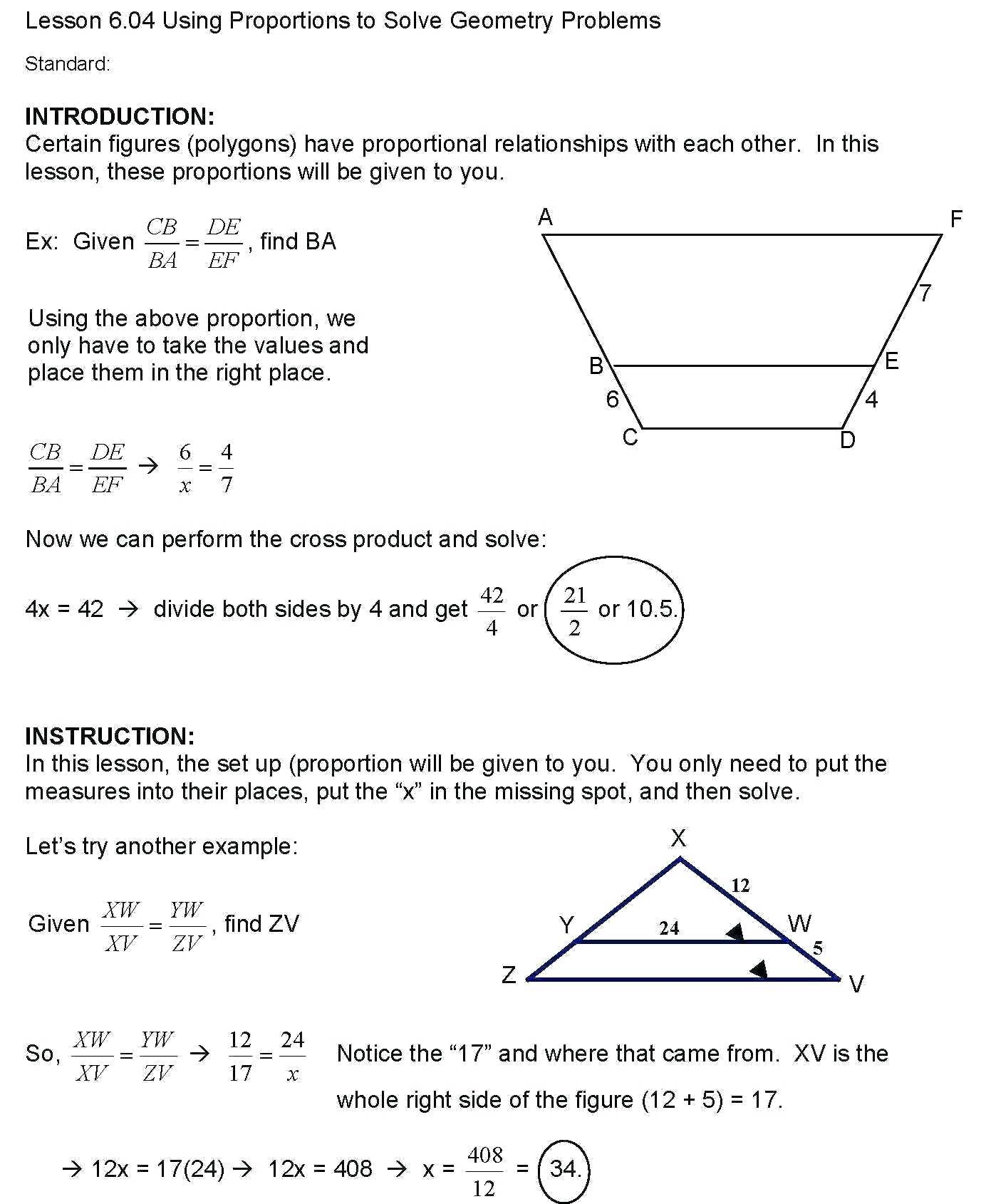 4 Free Math Worksheets Sixth Grade 6 Geometry