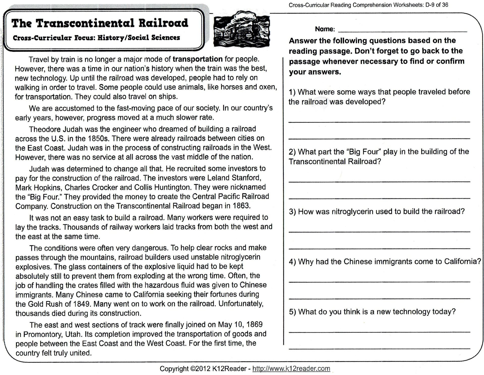 - English Prehension Worksheet Year 4 Printable Worksheets And