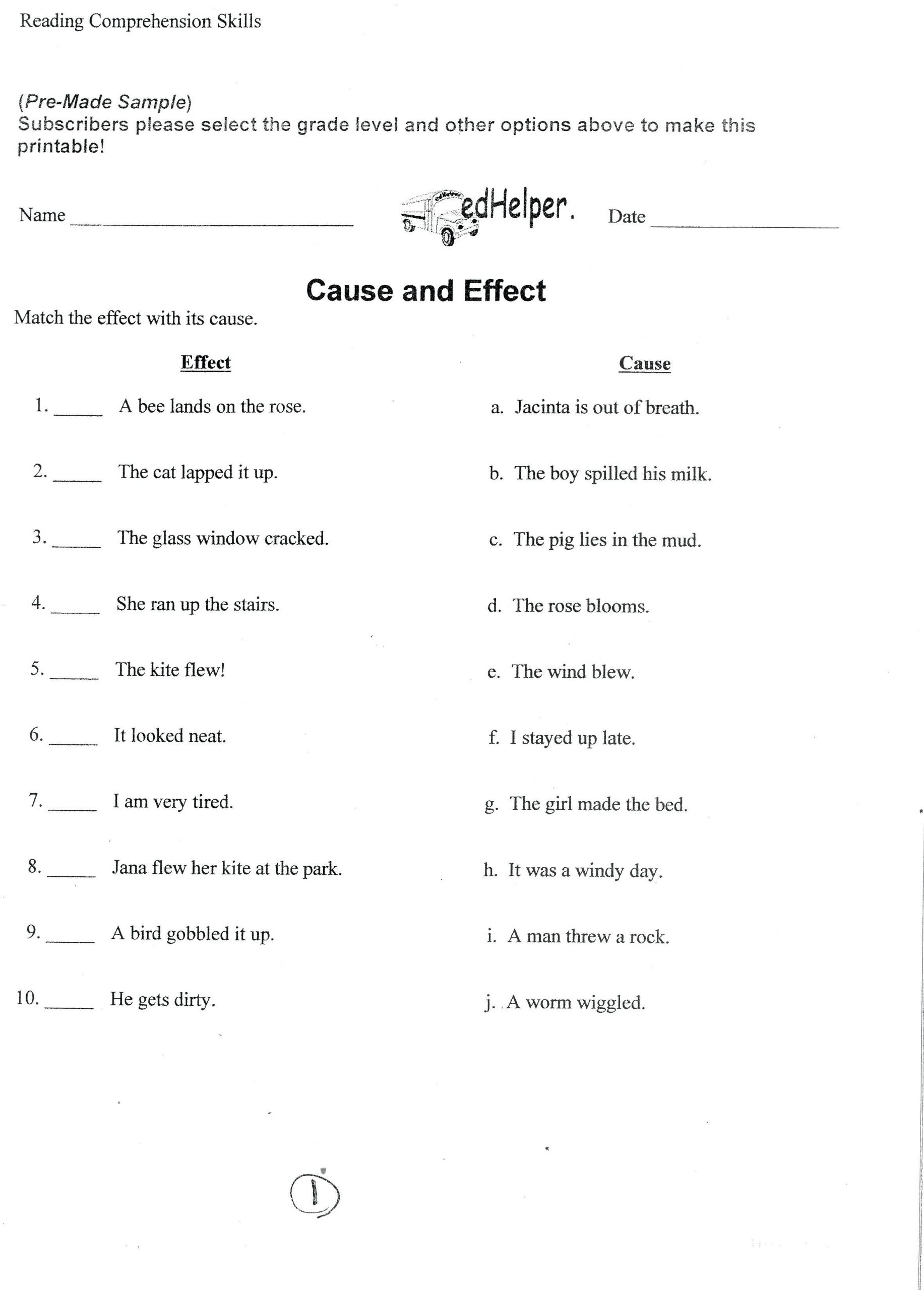 5 Reading Comprehension Worksheets Fourth Grade 4