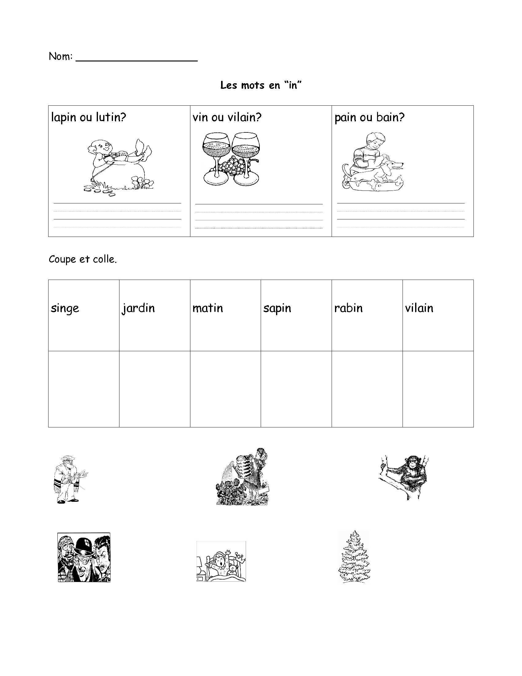 3 Vocabulary Worksheets First Grade 1