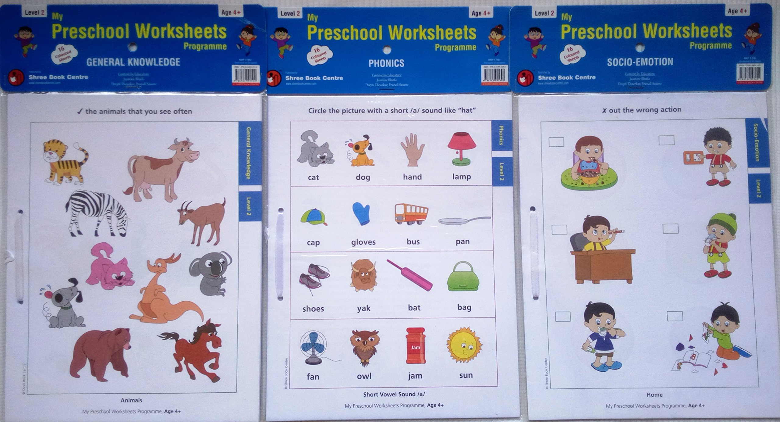 5 Animals Worksheets Preschool For Kids