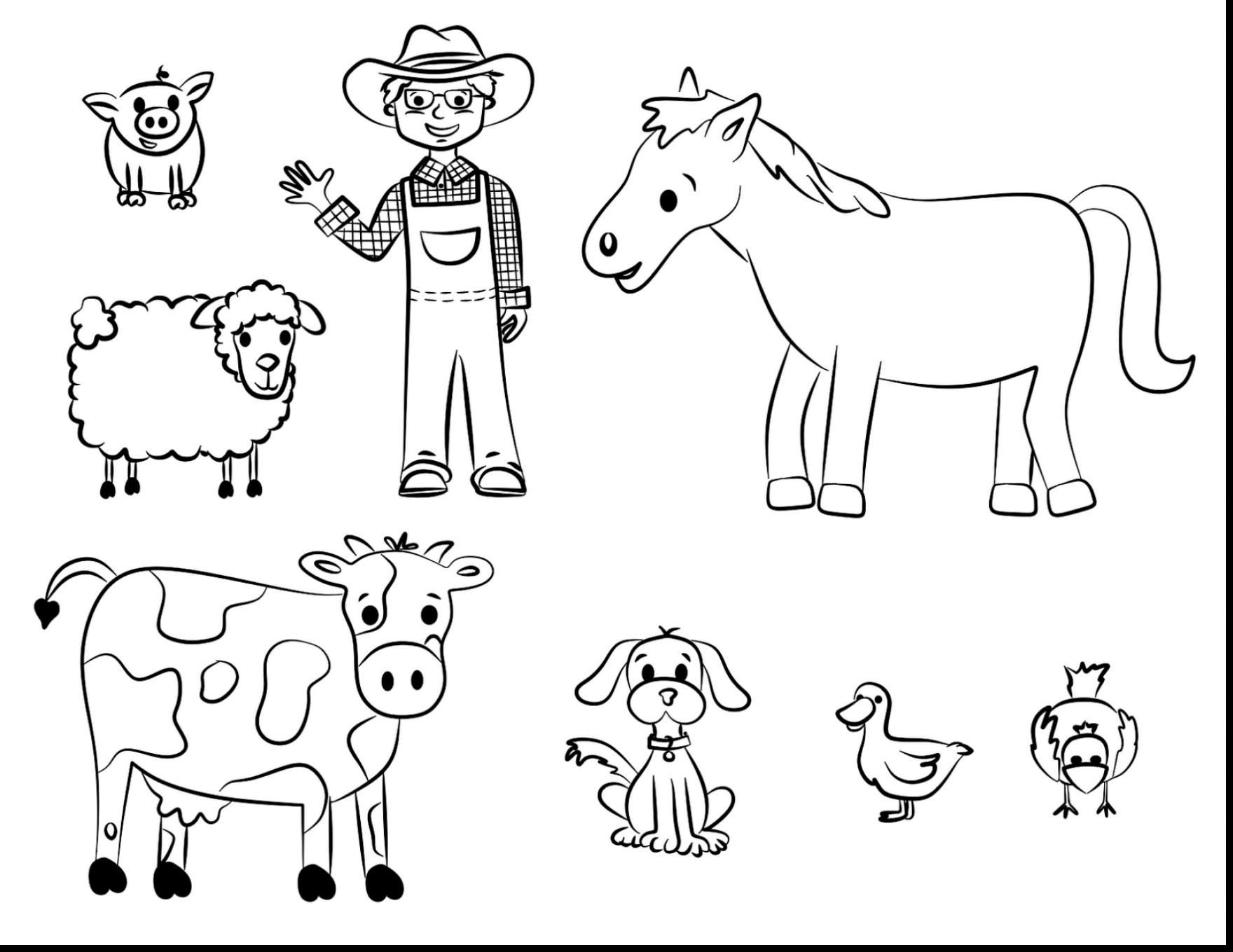 6 Farm Animals Printables Clip Art