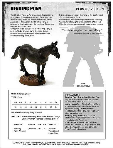 rending pony