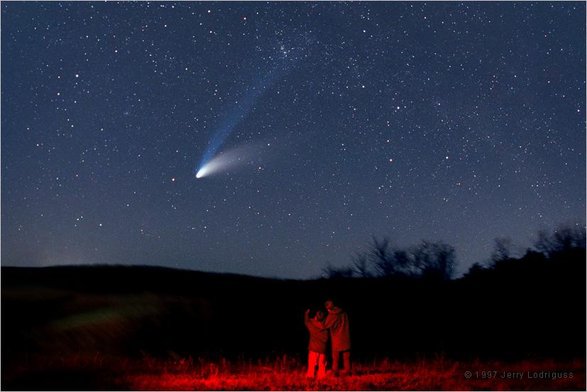 Cometa Hale-Bopp în 1997. Foto: Jerry Lodriguss