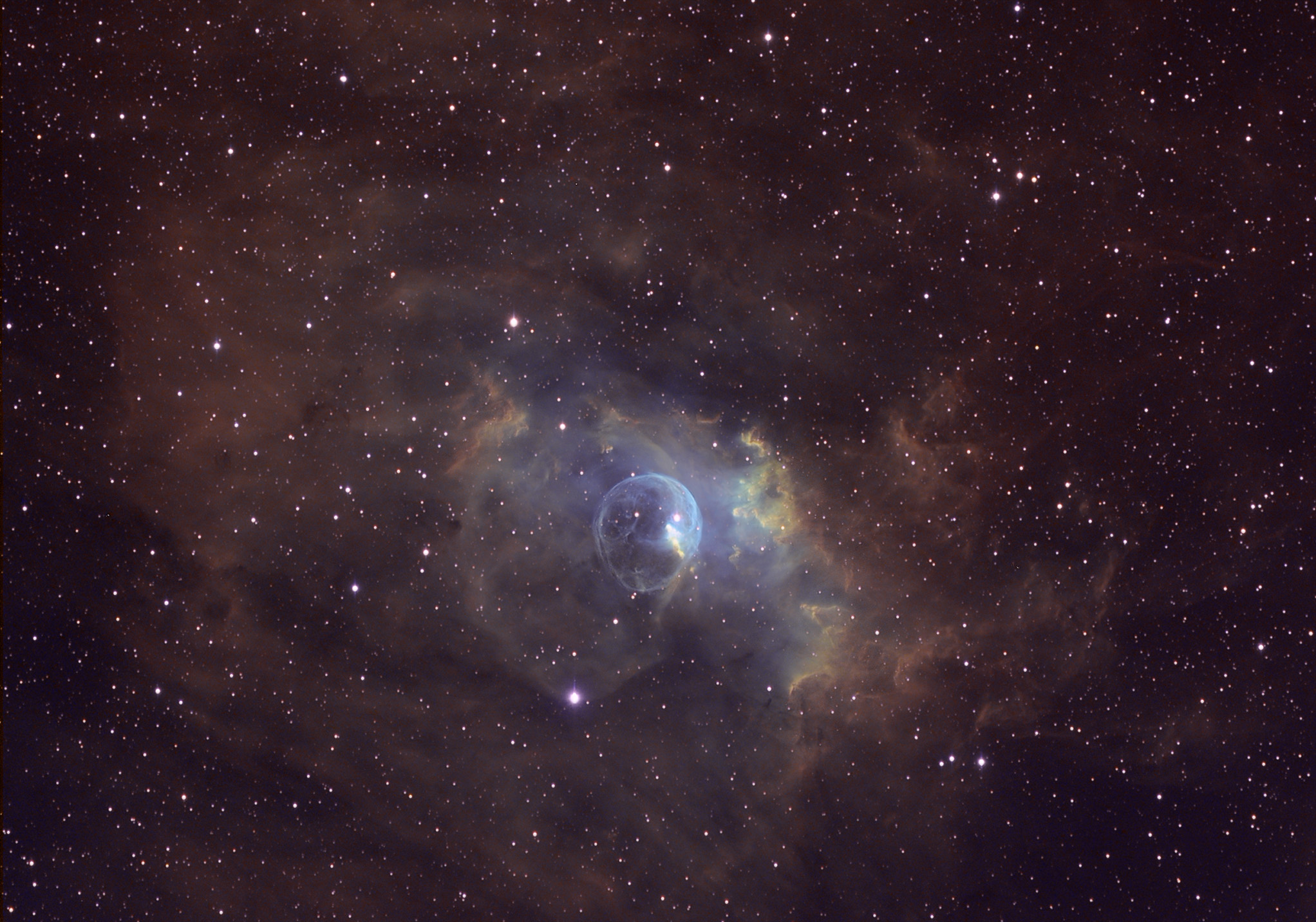 NGC The Bubble Nebula Skeptical Science - Heres hubbles first ever picture of the entire bubble nebula