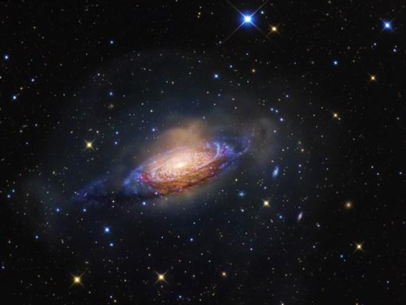 NGC 3521: galaxia nunha burbulla