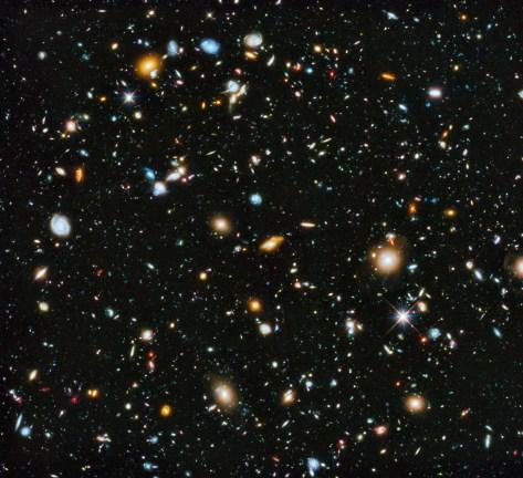 Hubble Deep Field image (Bron: NASA)
