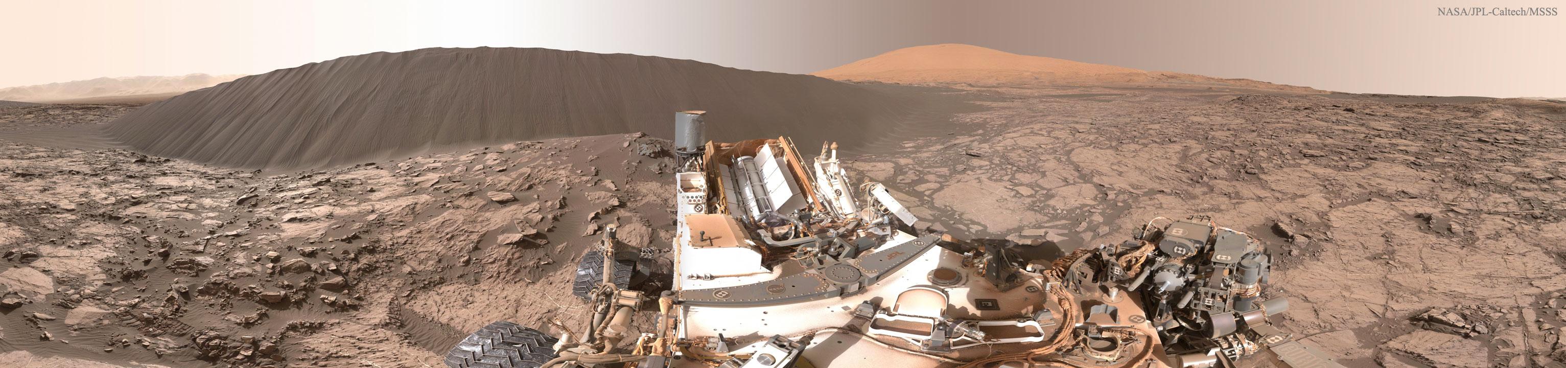 APOD 2016 March 29 NASA s Curiosity Rover at Namib Dune 360 View