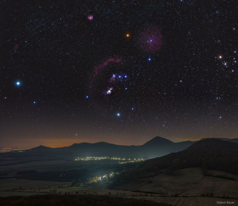 Orion over the Central Bohemian Highlands