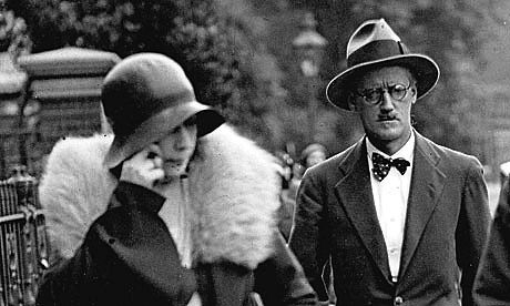 Nora Barnacle and James Joyce on the day of their marriage in 1931.