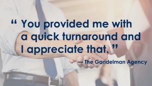 Testimonial - The Gandelman Agency