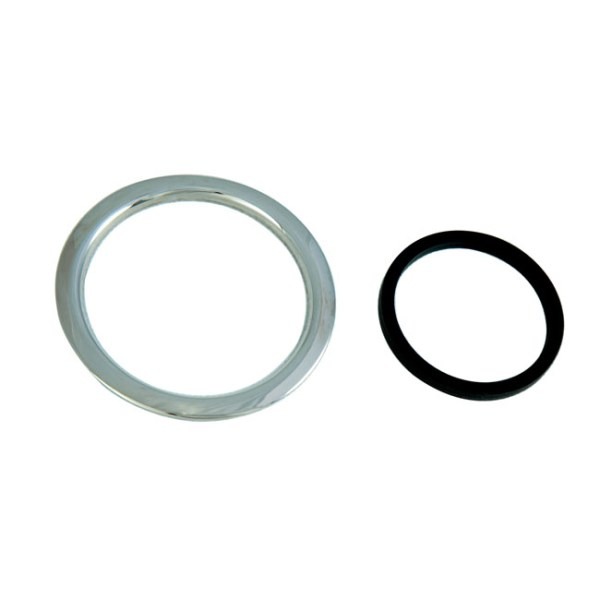 Paint protector trim ring, fuel tank   96-20 H-D with screw-in cap & smooth top tank