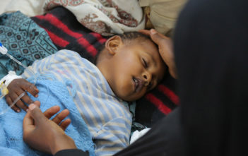 On 12 May 2017 at the Sab'een Hospital in Sana'a, Yemen, a child