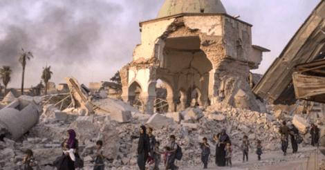 Mosoel: 6 luchtbombardementen per dag en 8 miljoen ton explosieve oorlogsresten